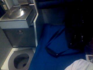 Roomette sink and toilet