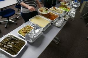 Mediterranean lunch buffet