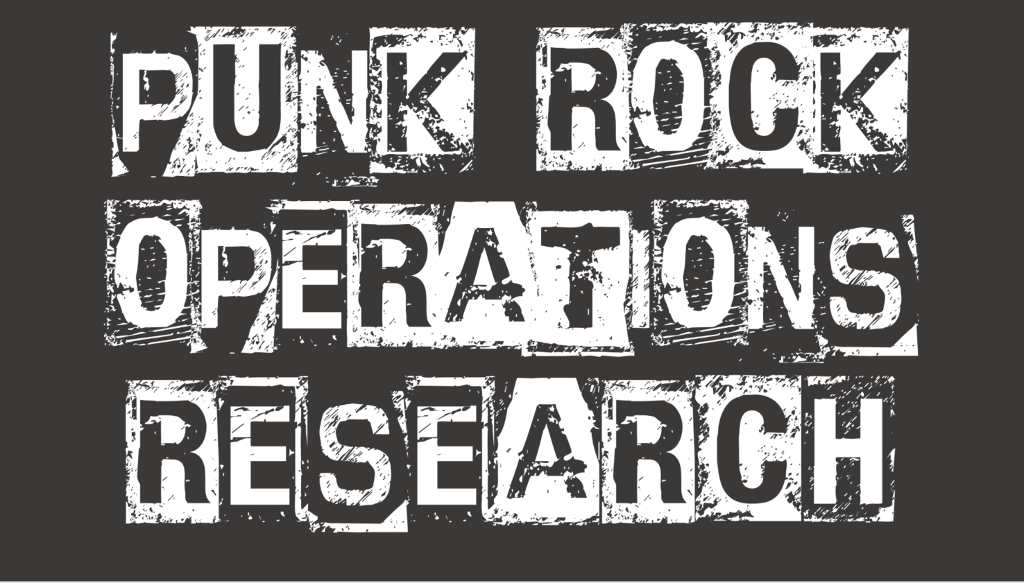 Punk Rock Operations Research zoom background (charcoal)