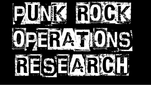 Punk Rock Operations Research zoom background (black)