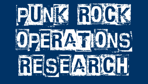Punk Rock Operations Research zoom background (navy)