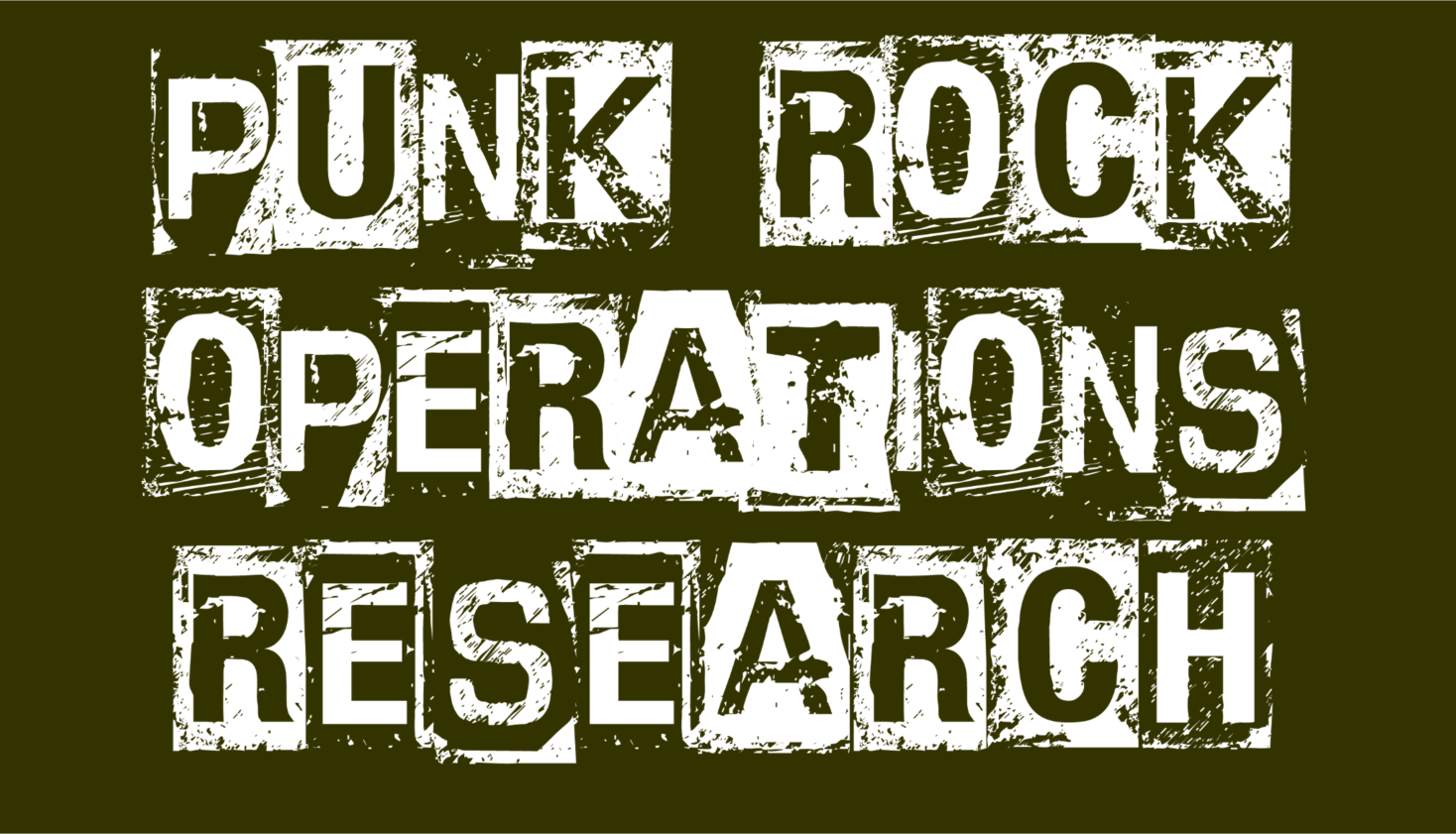 Punk Rock Operations Research zoom background (olive)