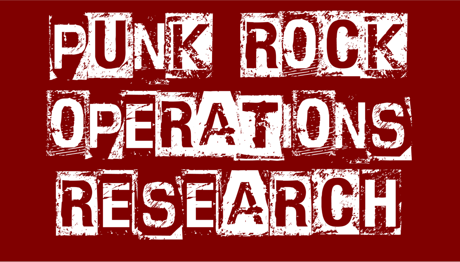 Punk Rock Operations Research zoom background (cranberry red)